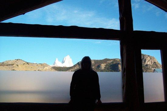 Hosteria Infinito Sur: vista desde la ventana del desayunador