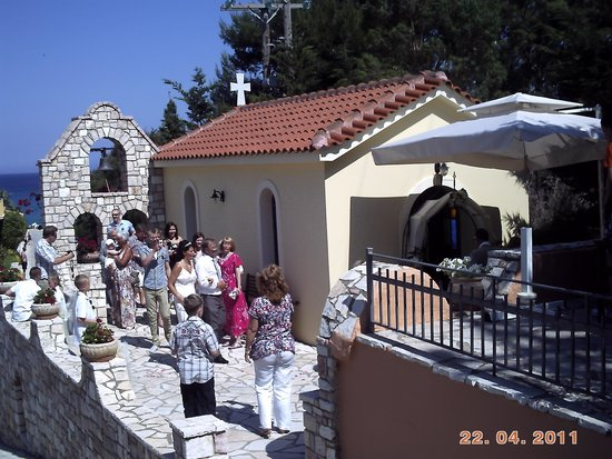 9 Muses Hotel Skala Beach : wedding at  9 muses hotel church-skala