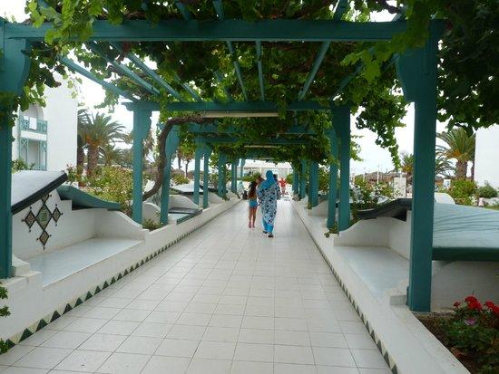 El Mouradi Cap Mahdia: espace detente entre le hall et la piscine