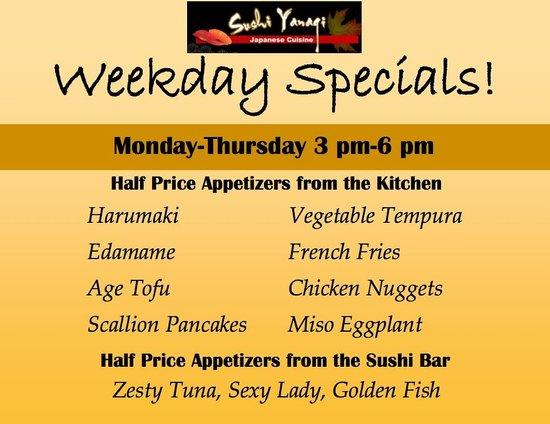 Sushi Yanagi : August Specials