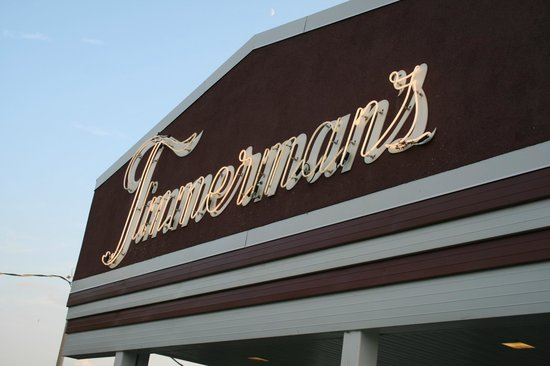 Timmerman's Supper Club: The Timmerman's sign