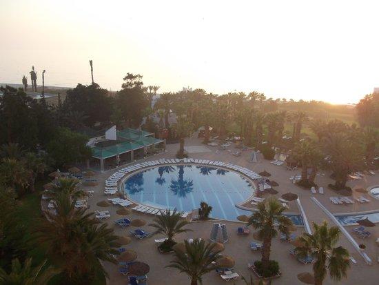 Marhaba Palace Hotel: early morning view from balcony