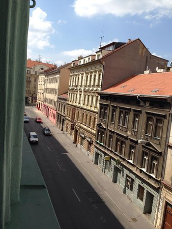 La Boutique Hotel Prague : The view out of the window
