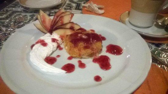 Steigenberger Nile Palace Luxor: konafa dessert in the Lebanese restaurant