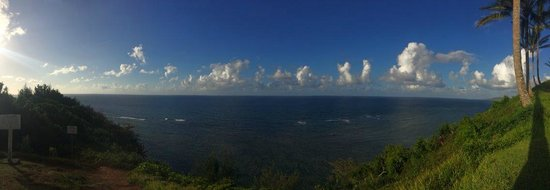 Sealodge at Princeville : panorama from the back of the condo