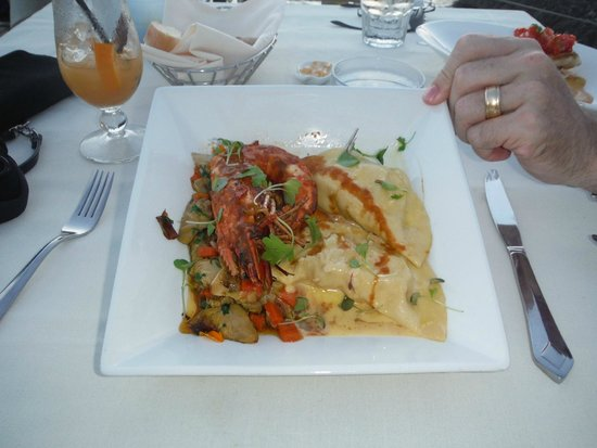 The Cracked Conch by the Sea: Shrimp Ravioli