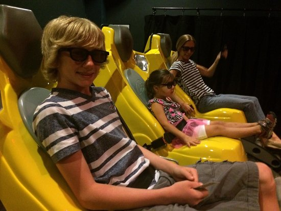 WonderWorks: Chilling at the 4d movie.