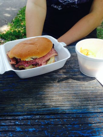 Hank's Smoked Briskets : Corn Beef Dinner and Mac and Cheese
