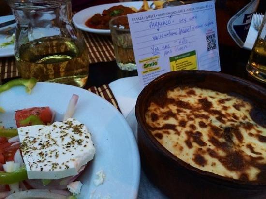 Smile Cafe Restaurant : Impromptu Greek lesson