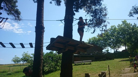 Forestal Park Santander: Platform for first zipwire