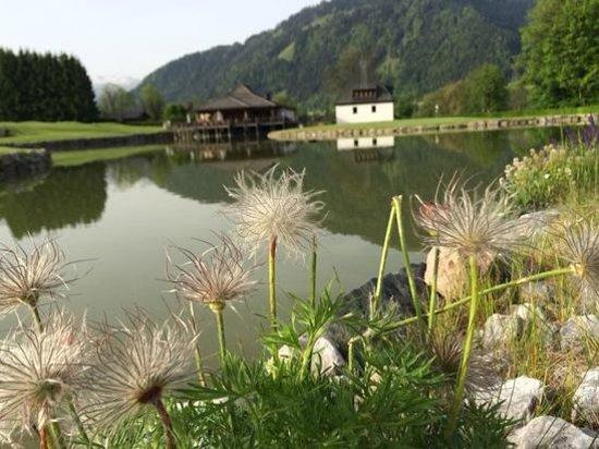 A-ROSA Resort Kitzbühel: Красота перед входом в Отель