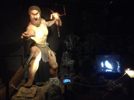 Patras, Greece: Cyclop Polyphemus sculpture