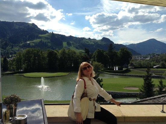 A-ROSA Resort Kitzbühel: Вид с веранды бара