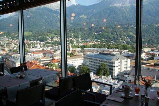 Adlers Hotel: View from breakfast restaurant on top floor.