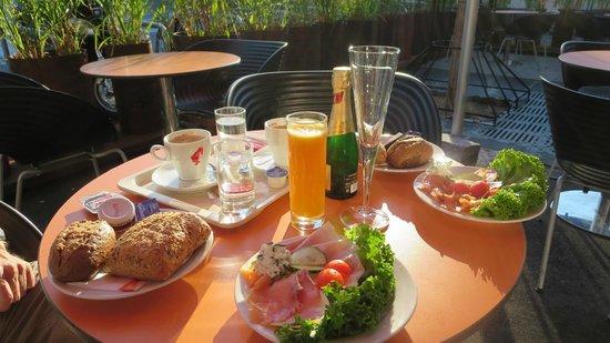 "Adlers Hotel: Breakfast at the bakery downstairs ""baguette"" NOT the hotel breakfast room."