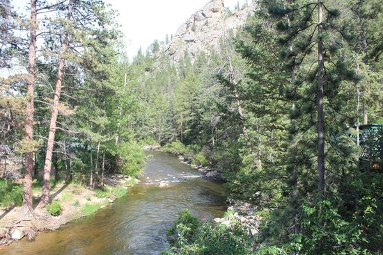 Rustic River Cabins: View of the river