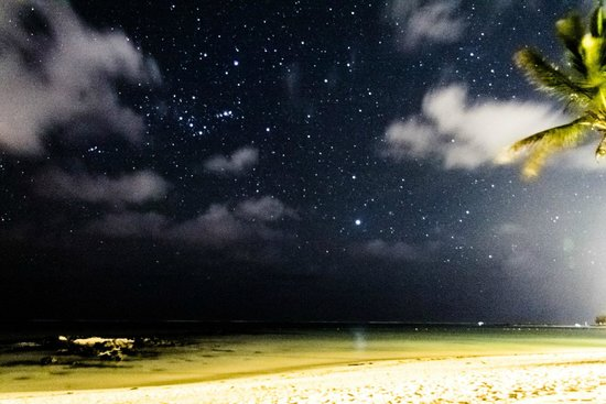 The Residence Mauritius: The stars were literally countless at the private beach