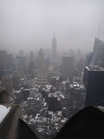 Rockefeller Center: A Foggy morning from the top of the rocks