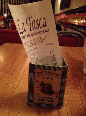 La Tasca Covent Garden : fantastic food!
