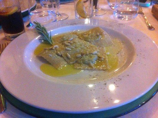 Casolare di Libbiano: uno de sus muchos platos de pasta