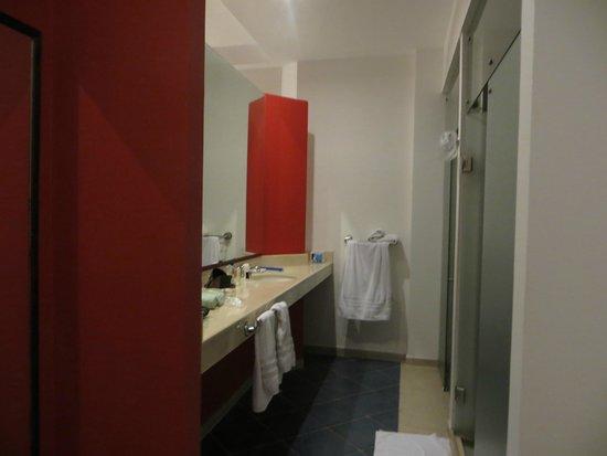 Decameron Barú: Lavamanos a la izquierda, ducha y sanitario a la derecha