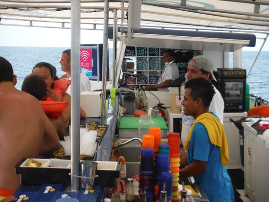 Cabo Escape: Crue Busy Making drinks