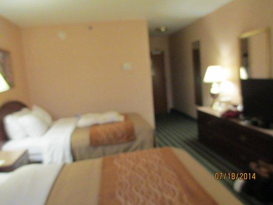 Comfort Inn Roanoke Airport: Two double beds