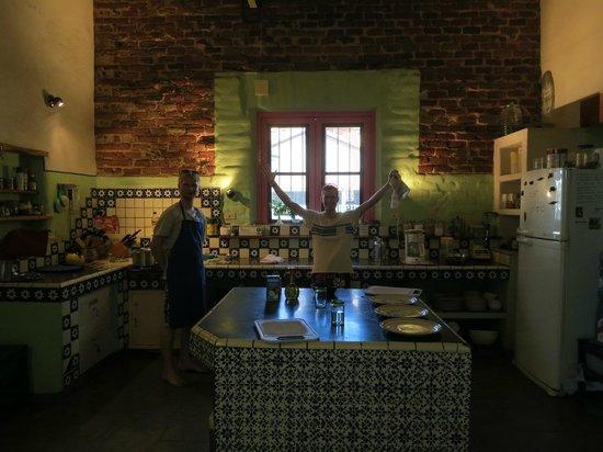 El Angel Azul Hacienda: Su cocina !