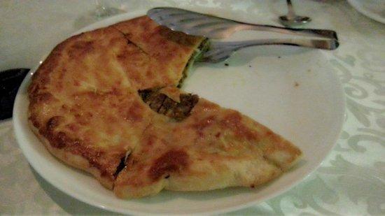 Cat Restaurant: Georgian meat pie.