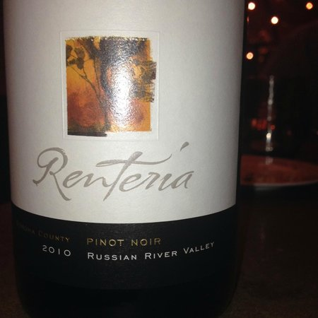 Bottega Napa Valley: Renteria 2010 Pinot Noir