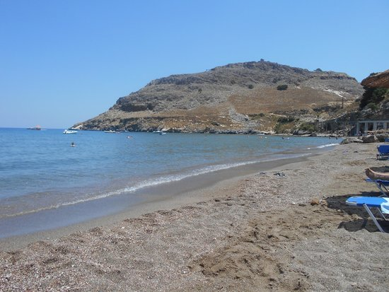 Lindos Mare: Beach in front of hotel