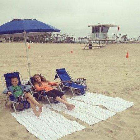 Hyatt Regency Huntington Beach Resort & Spa : Beach set up
