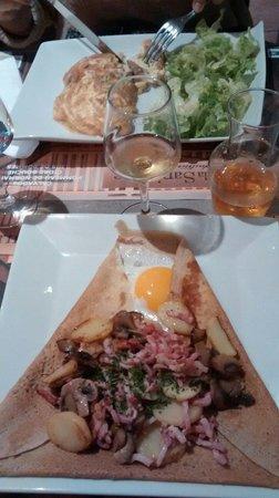 Le Triskell: Fantastica cocina muy bueno es ideal en un pueblo precioso.