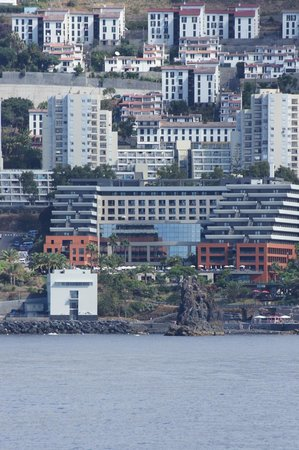 Enotel Lido Madeira : View of hotel from whale watching boat