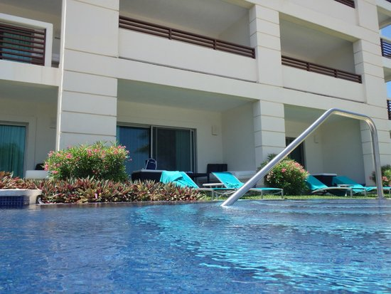 Secrets Silversands Riviera Cancun: Our patio from the pool