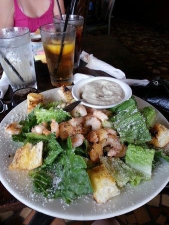 St. Charles Tavern: Very large ceased salad with added shrimp. PHENOMENAL