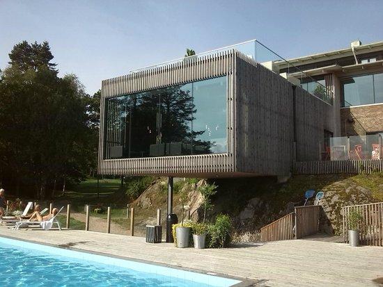 Vann Spa Hotell & Konferens: uitzicht vanaf zwembad