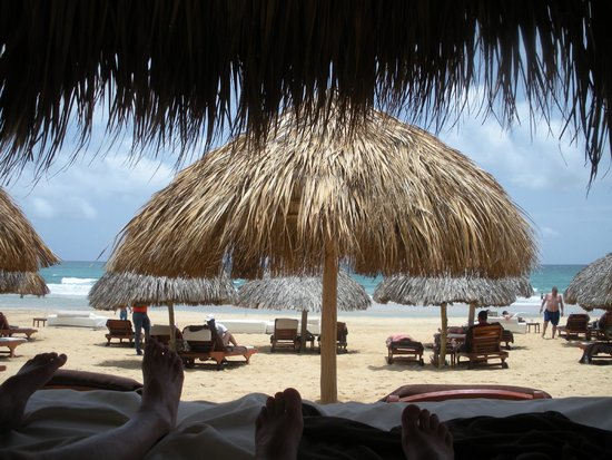 Excellence Punta Cana: View from a beach cabana in the Excellence Club beach area