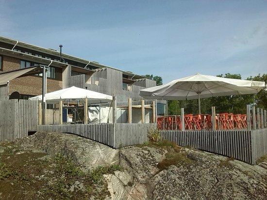 Vann Spa Hotell & Konferens: buitenterras