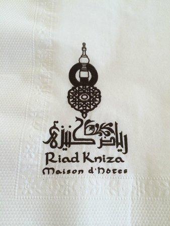 Riad Kniza: napkin