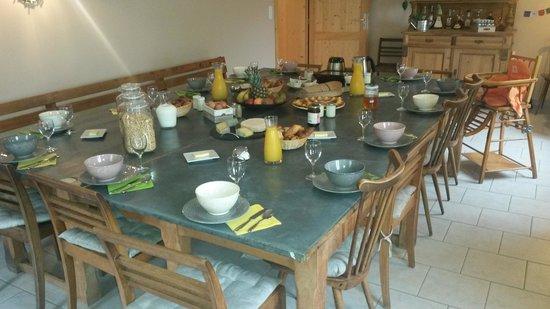 Chez Jeanmyvonne : Petit-Déjeuner