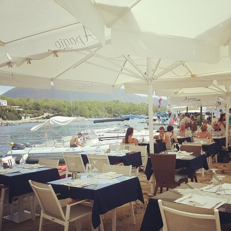 Apagio Restaurant : Pretty restaurant right on the harbour