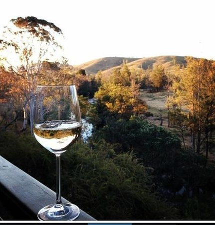 Barrington Hideaway: glass of wine from the balcony!