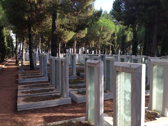 glass headstones with names - Picture of Canakkale ...