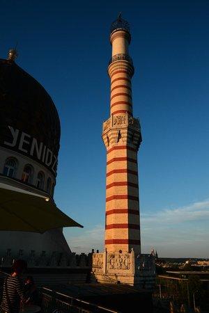 Yenidze - Restaurant: Ein letzter Sonnenstrahl