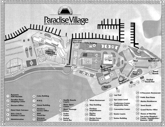 Paradise Village Beach Resort Spa Map