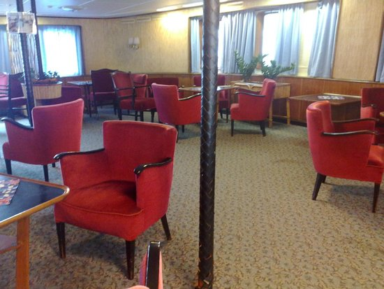 Hurtigruten Museum: MS Finnmark - one of the lounges