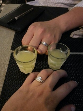 Osteria dell Olio: Limincello for the newlyweds!