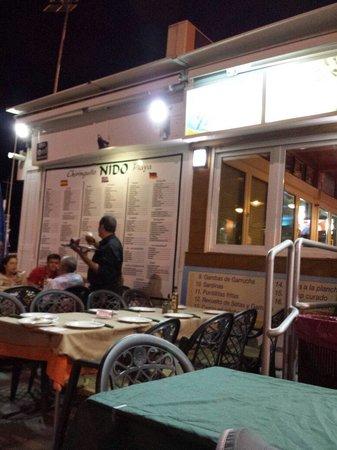 Restaurante Chiringuito Nido-Playa: Chiringuito El Nido de Roquetas de Mar