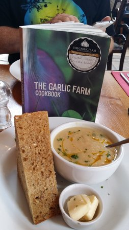 The Garlic Farm Cafe: Delicious Lunch